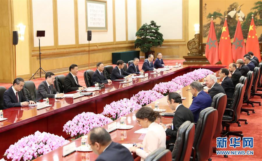 (中非合作论坛・XHDW)习近平会见摩洛哥首相奥斯曼尼