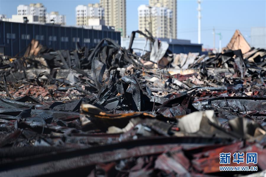 (圖文互動)(5)天津潤滑油倉庫火災已撲滅無人員傷亡