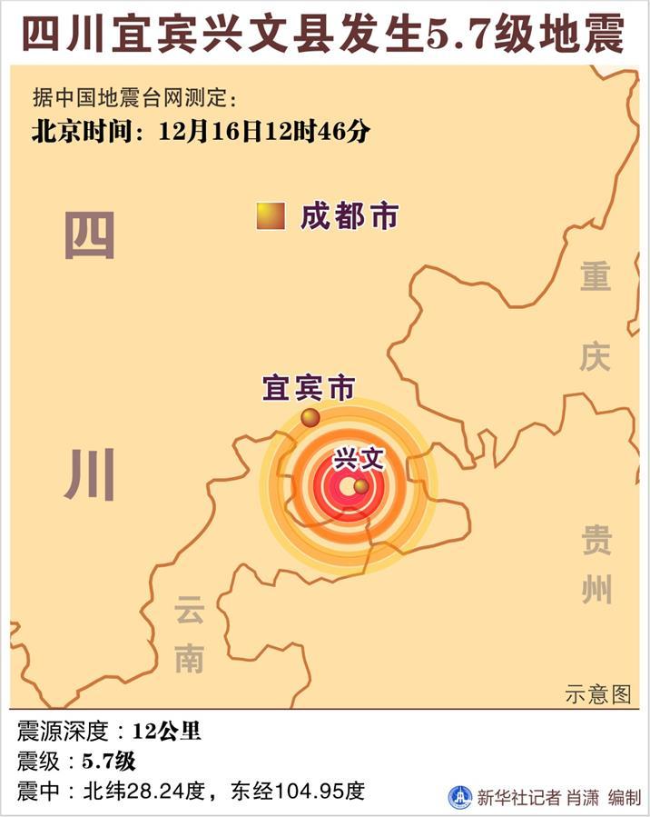(图表)[四川宜宾地震]四川宜宾兴文县发生5.7级地震