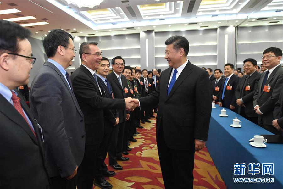 (两会)(1)习近平看望参加政协会议的民盟致公党无党派人士侨联界委员