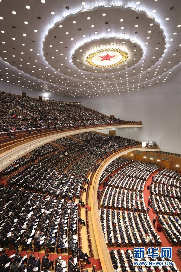 (两会·人大开幕·XHDW)(2)十三届全国人大一次会议在京开幕