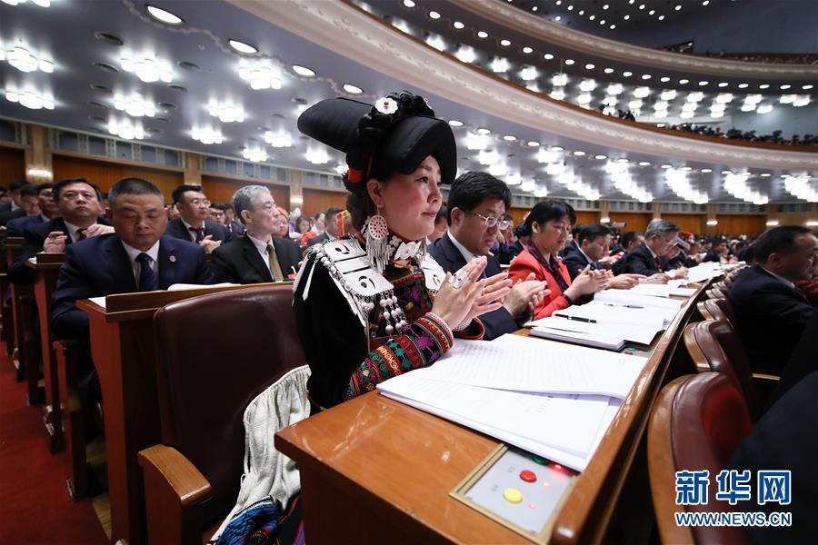 (两会·人大开幕·XHDW)(18)十三届全国人大一次会议在京开幕