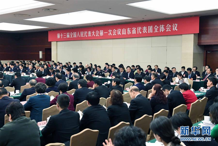 (两会)山东代表团全体会议向媒体开放