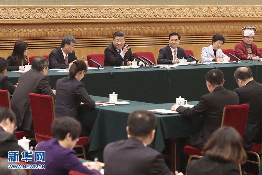 习近平等分别参加全国人大会议一些代表团审议
