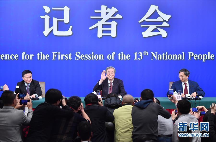 """(两会・XHDW)(1)中国人民银行行长周小川等就""""金融改革与发展""""答记者问"""