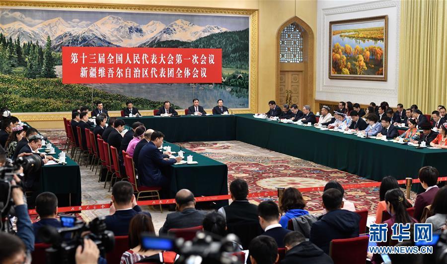 新疆代表团全体会议向媒体开放