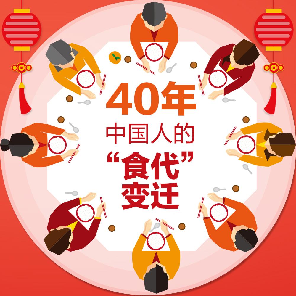 """40年,中国人的""""食代""""变迁"""