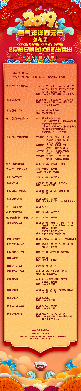 完整节目单来啦!中央广播电视总台《2019年元宵晚会》抢先看!