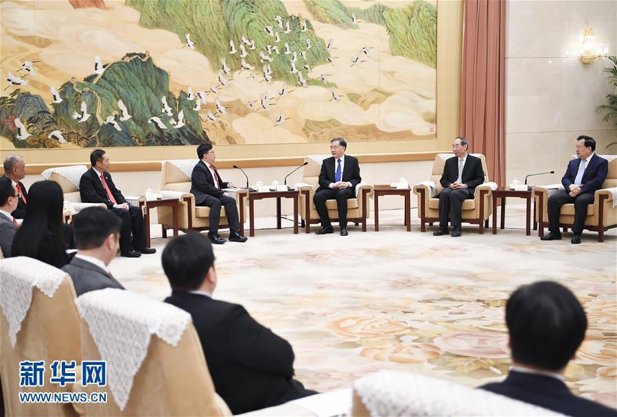 (时政)汪洋会见澳区省级政协委员联谊会访京团