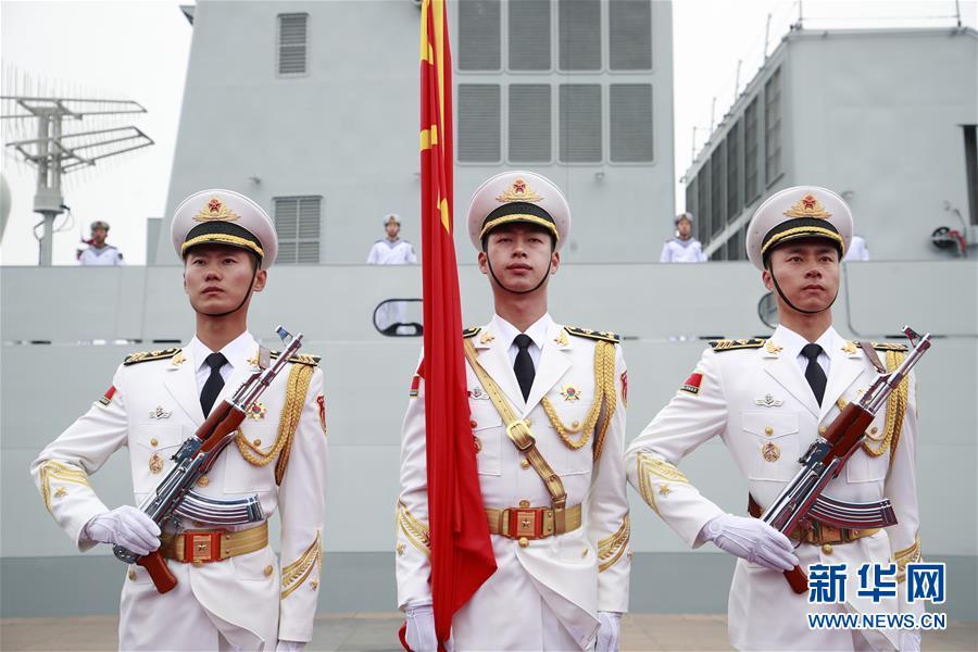 (新华全媒头条·人民海军70年·图文互动)(1)奏响新时代海上和平乐章——人民海军成立70周年海上阅兵活动纪实