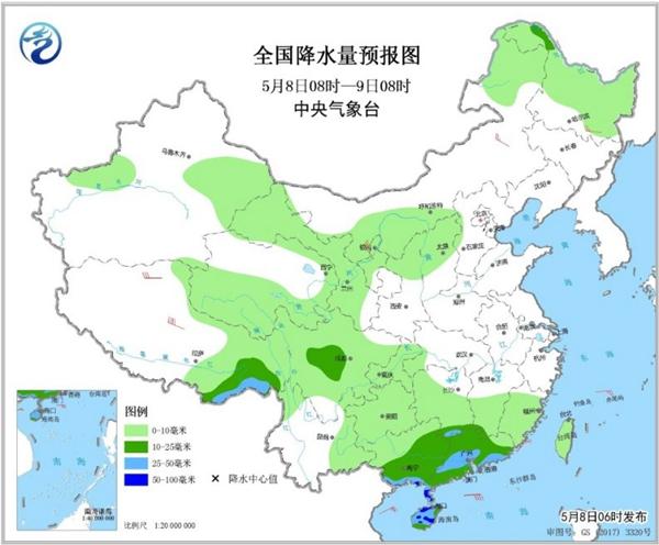 冷空气要撤啦!今日全国降水整体弱 华南仍有强对流