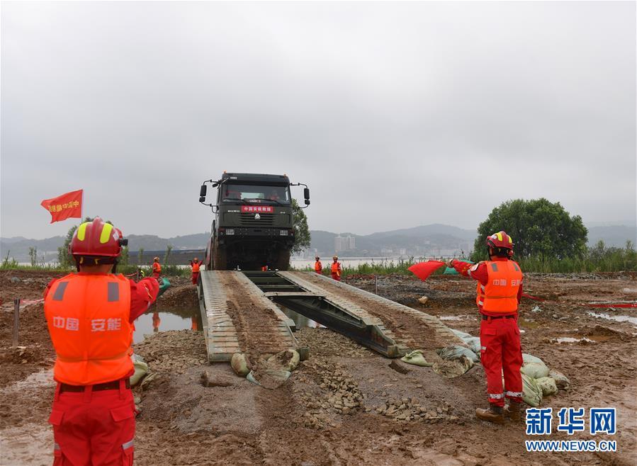 (社會)(3)2019年長江中下遊抗洪搶險實戰演練在江西九江舉行