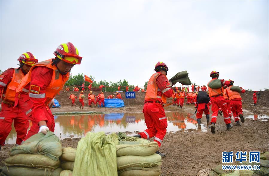 (社會)(7)2019年長江中下遊抗洪搶險實戰演練在江西九江舉行