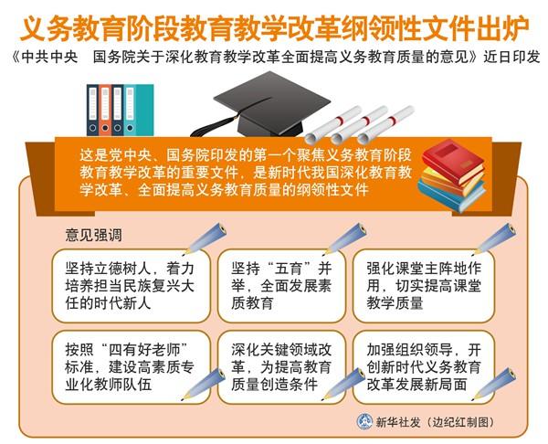 义务教育阶段教育教学改革纲领性文