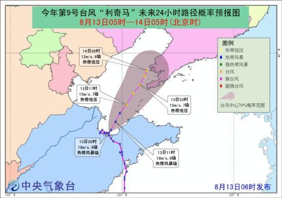 中央气象台布台风蓝色预警 渤海中部部分海域风力有8级