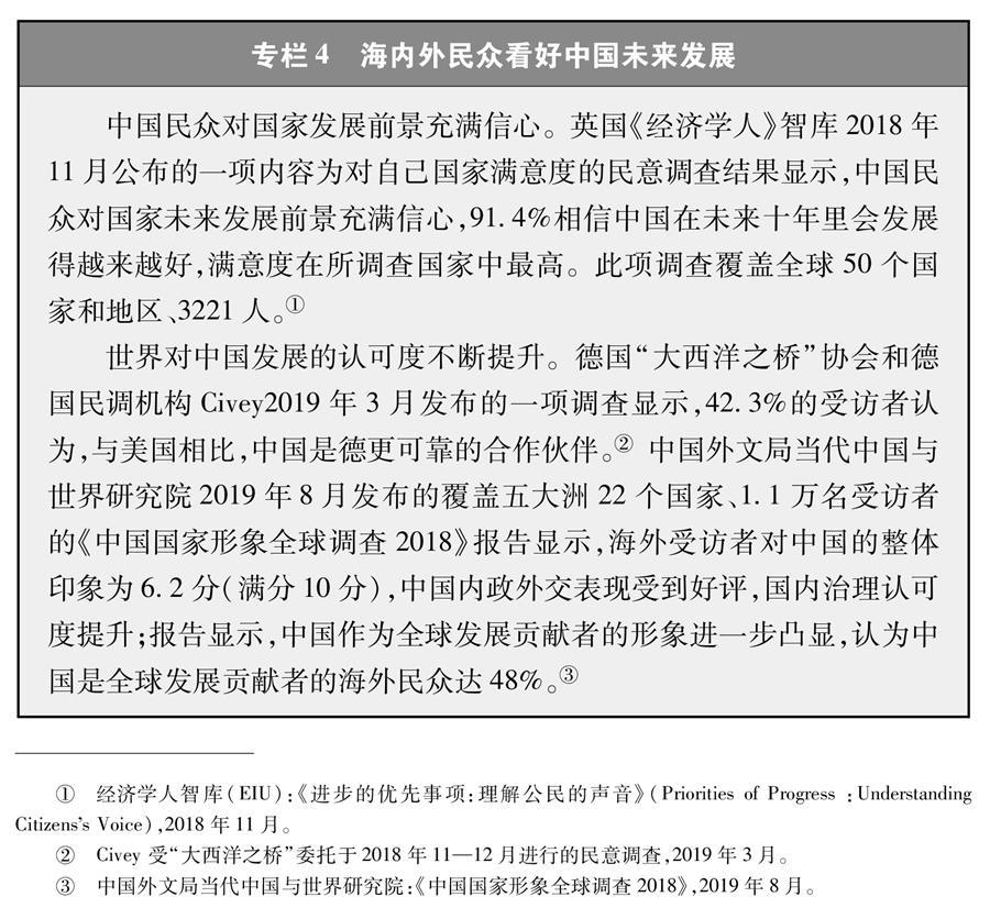 (图表)[新时代的中国与世界白皮书]专栏4 海内外民众看好中国未来发展