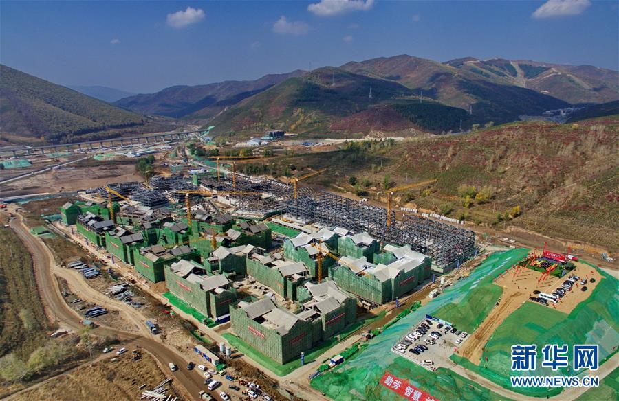 (体育)(2)2022年北京冬奥会张家口冬奥村主体结构正式封顶