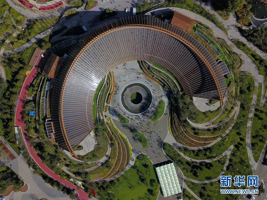 """(新华全媒头条·图文互动)(4)难忘的""""世园影象"""" 配合的绿色寻求——写在北京世园会落幕之际"""
