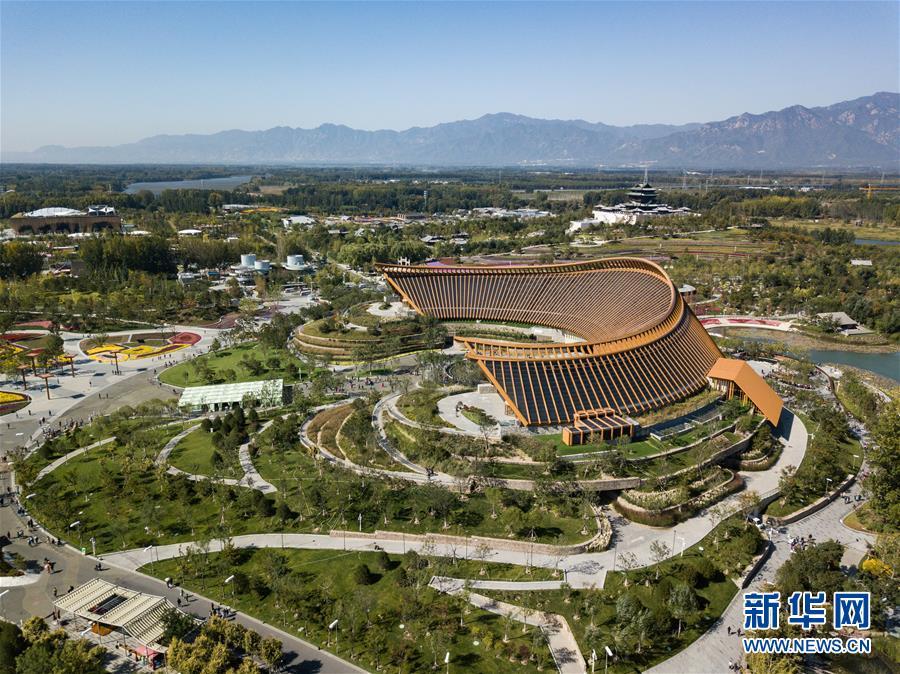 """(新华全媒头条·图文互动)(15)难忘的""""世园影象"""" 配合的绿色寻求——写在北京世园会落幕之际"""