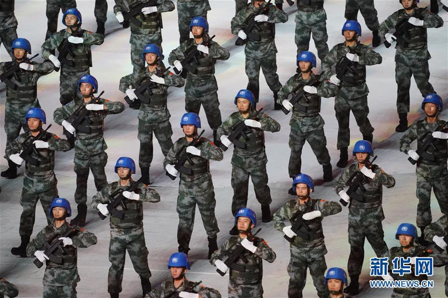 (新華全媒頭條·圖文互動)(5)和平之光閃耀軍運——第七屆世界軍人運動會開幕式側記