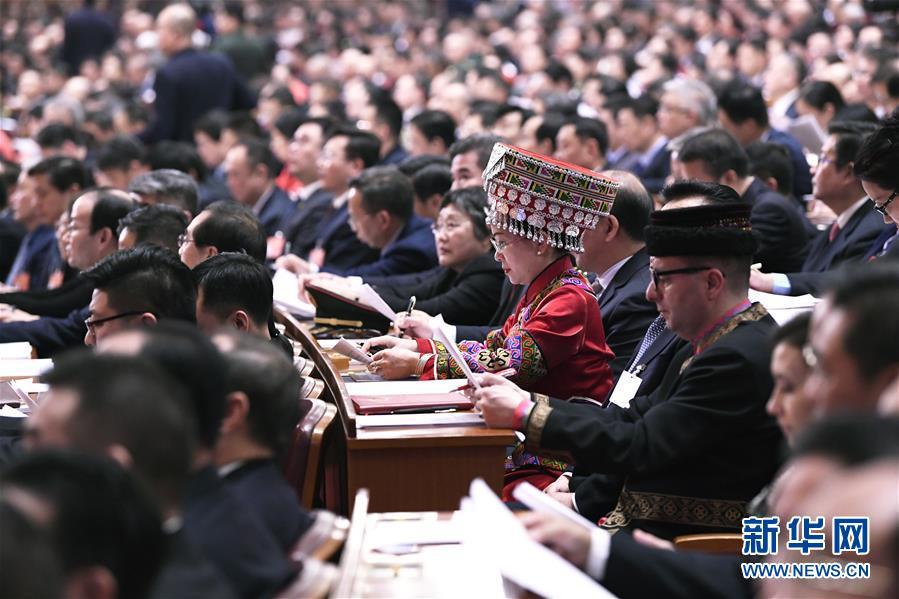 (两会·政协开幕·XHDW)(13)全国政协十三届二次会议在京开幕