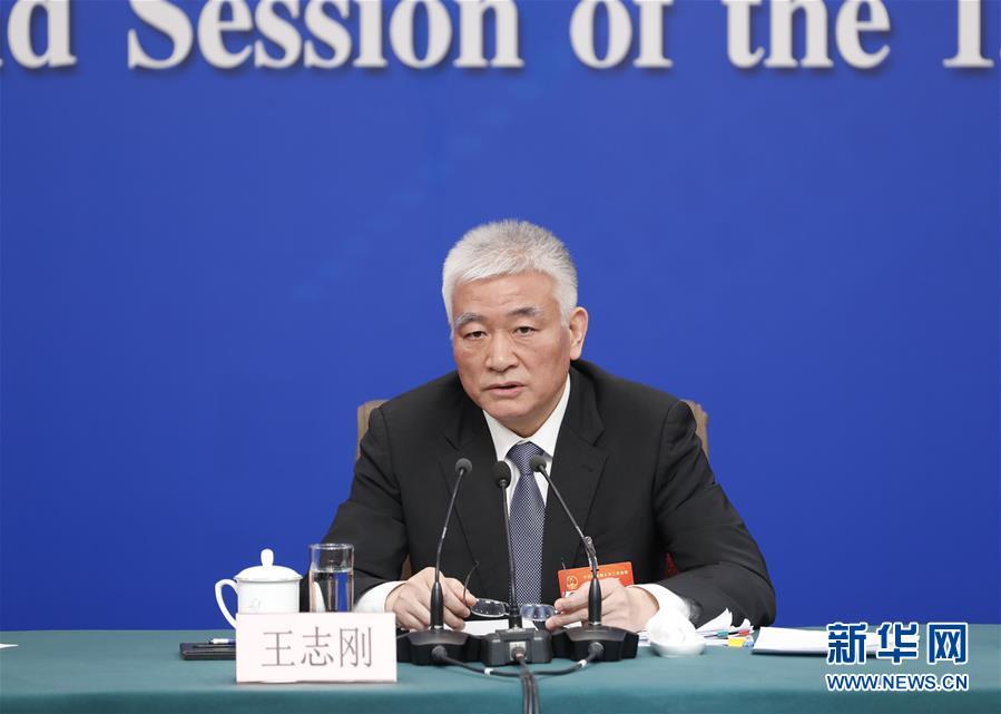 """(两会·XHDW)(2)科技部部长王志刚等就""""加快建设创新型国家""""答记者问"""