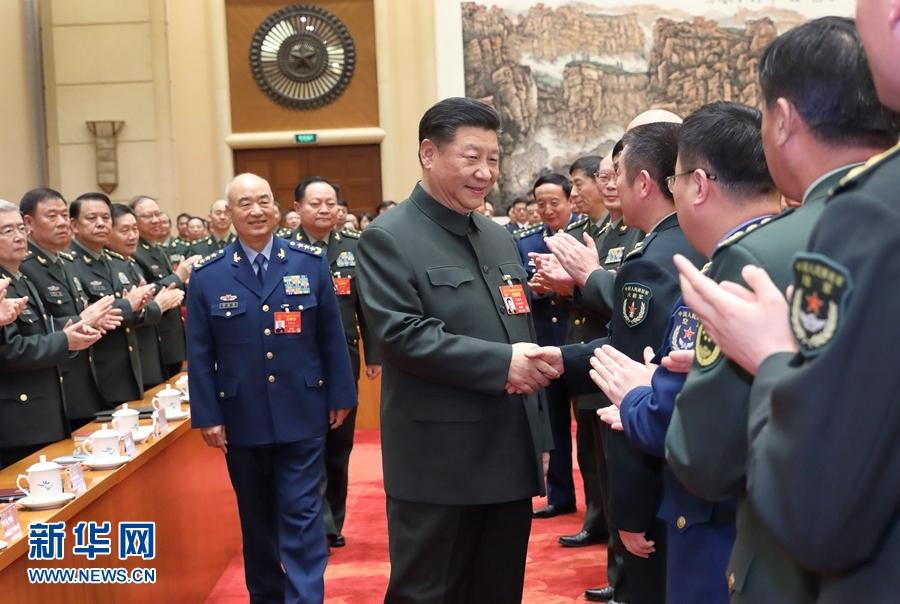 习近平出席解放军和武警部队代表团全体会议并发表重要讲话