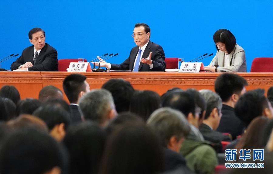 (两会)(5)李克强总理会见采访全国两会的中外记者并回答提问