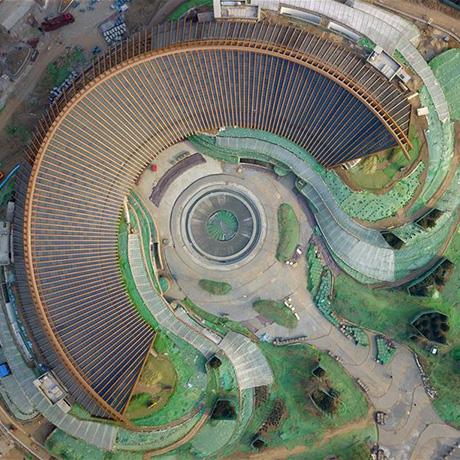 俯瞰2019年中国北京世园会园区