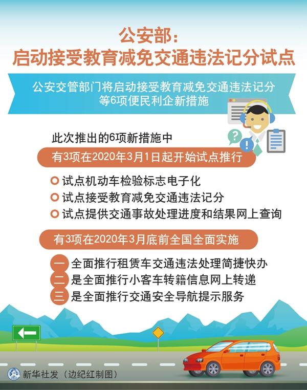 接受教育可減免交通違法記分 將在部分省市試點
