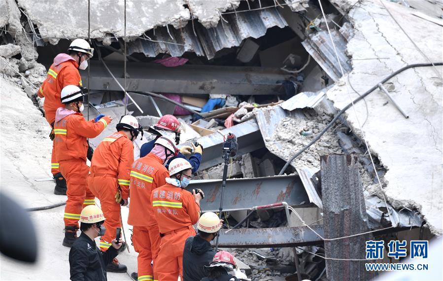 (社會)(1)福建泉州一酒店坍塌事故已致11人死亡 21人仍在搜救中