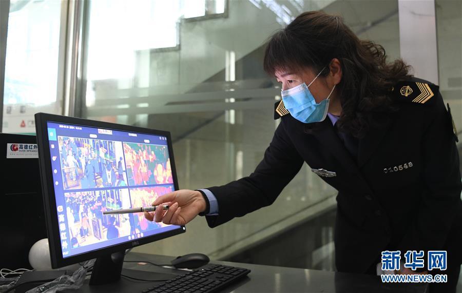 (聚焦疫情防控)(7)武漢站重啟日: 1.2萬名湖北鄉親坐高鐵回家