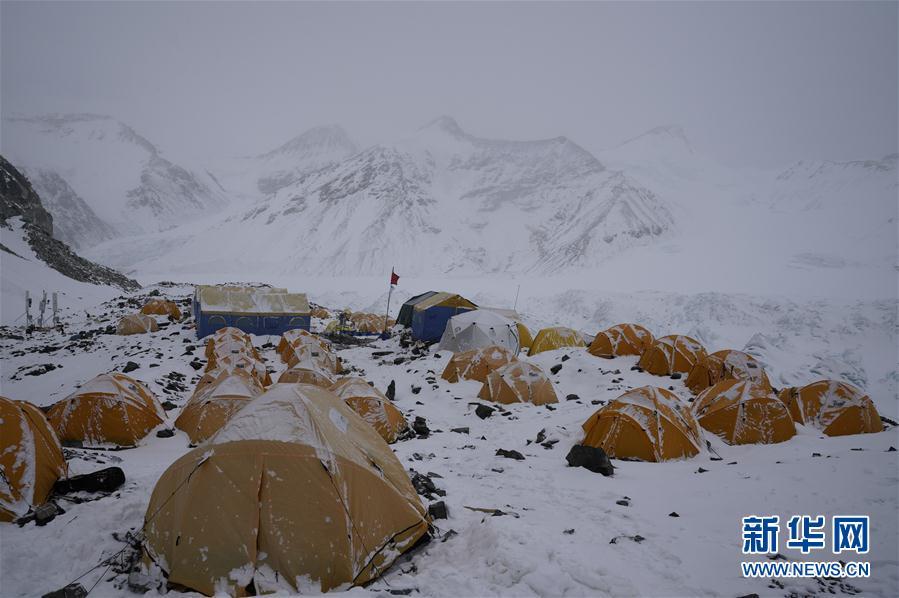 (2020珠峰高程测量·图文互动)(3)2020珠峰高程测量登山队抵达海拔6500米的前进营地
