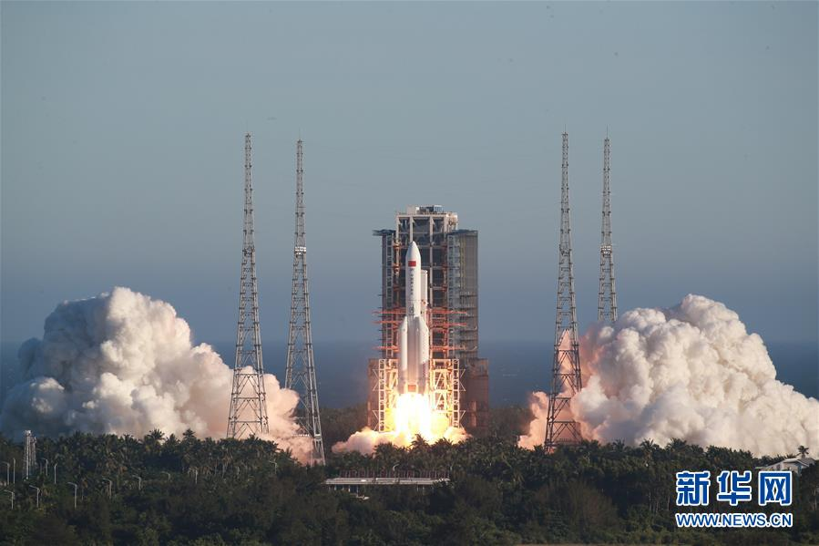 (镜观中国·新华社国内新闻照片一周精选)(11)长征五号B运载火箭首飞成功
