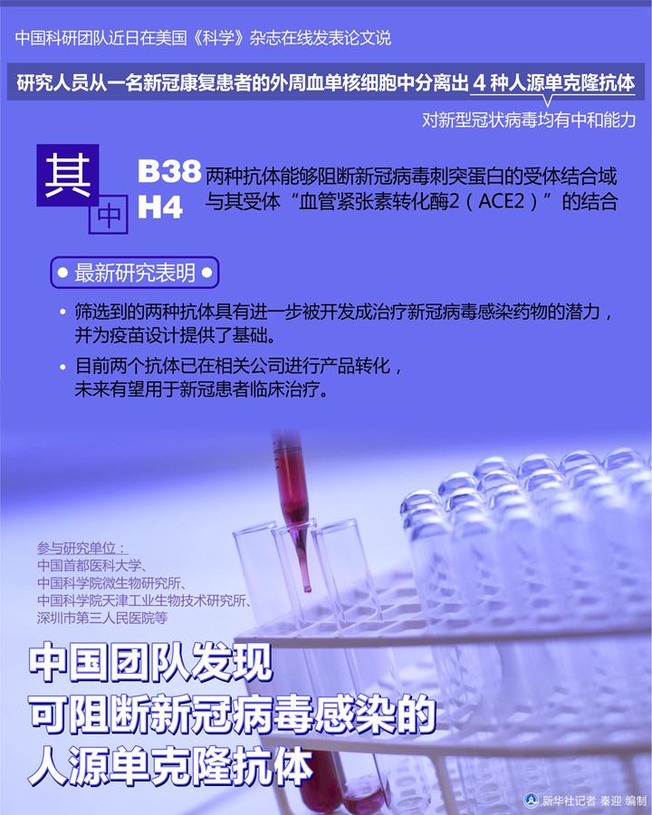 中国团队发现可阻断新冠病毒感染人源抗体,有望用于疫苗研发