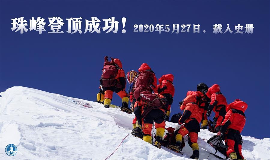 (图表·海报)[2020珠峰高程测量]珠峰登顶成功