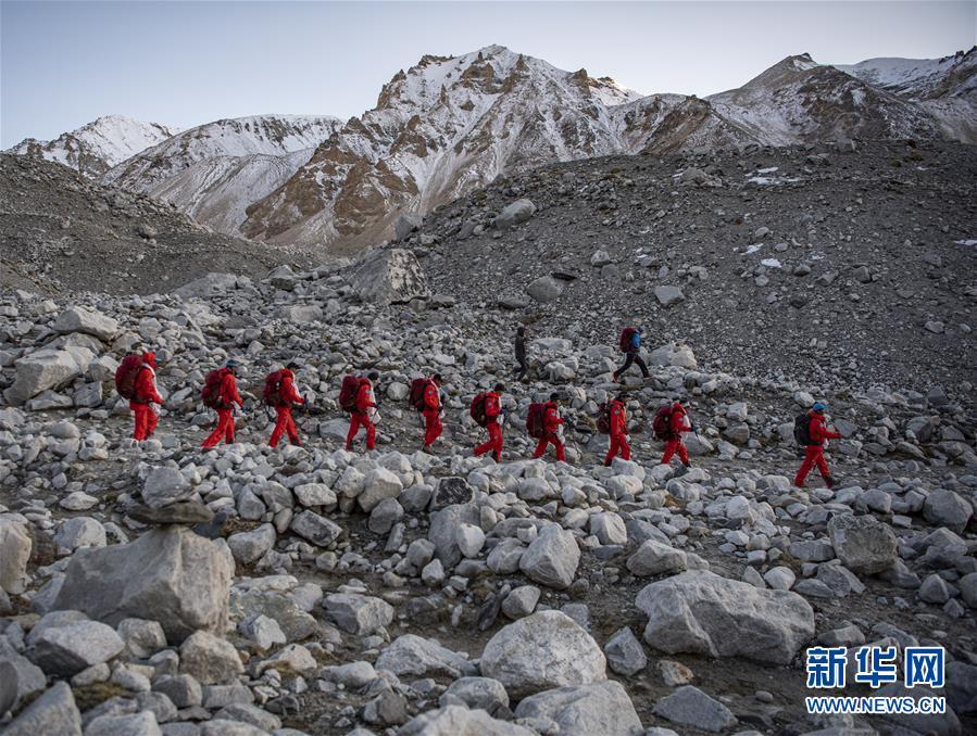 (2020珠峰高程测量)(2)2020珠峰高程测量登山队全体队员安全返回大本营