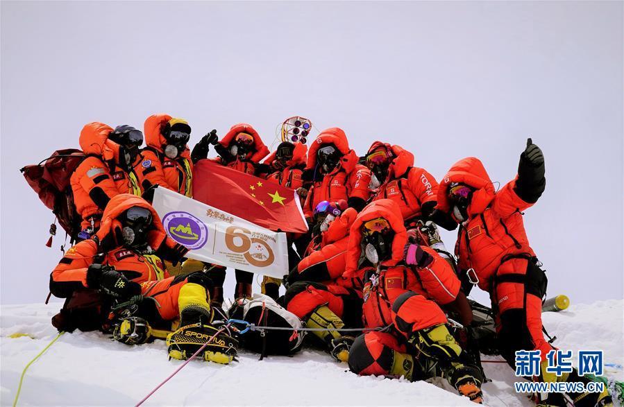 (2020珠峰高程測量)(3)獨家照片:世界之巔 勇者為峰