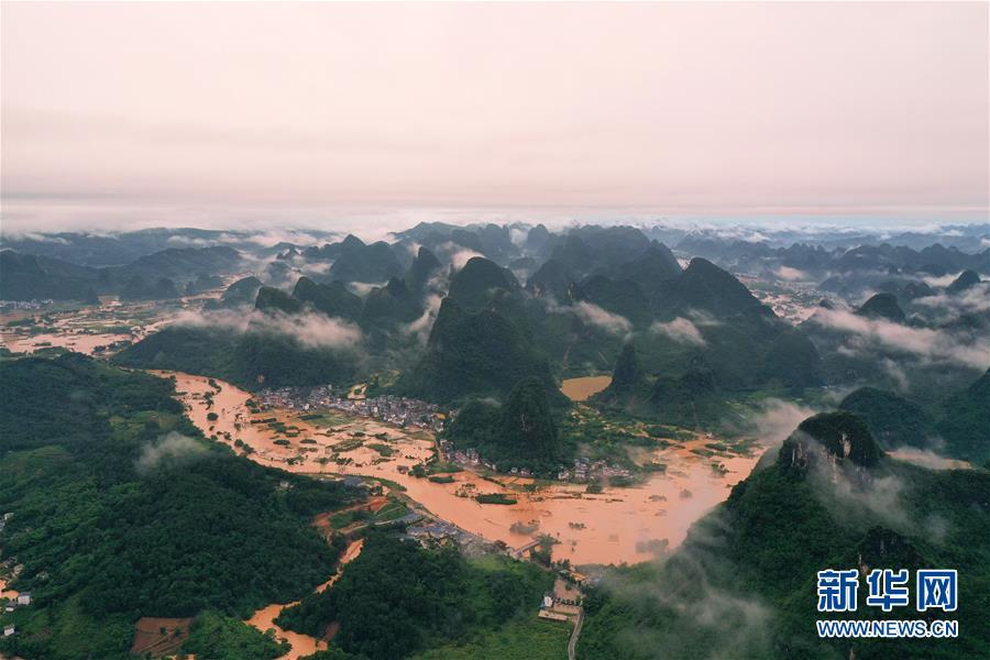 (新华视界)(2)持续强降雨造成广西超32万人受灾