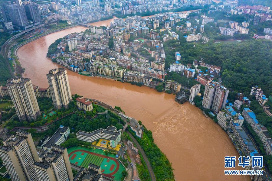 (新華視界)(1)重慶綦江洪峰過境