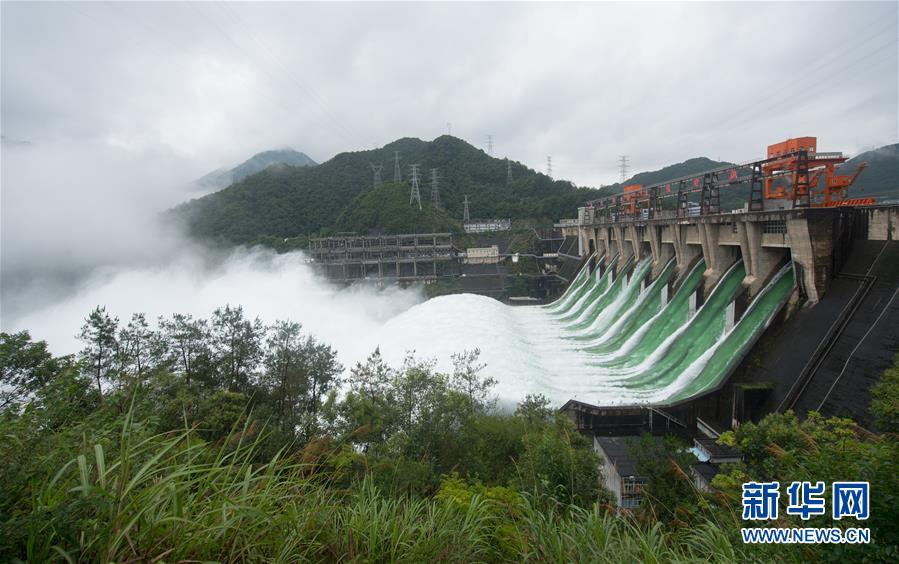 (防汛抗洪)(2)新安江水库首次9孔泄洪