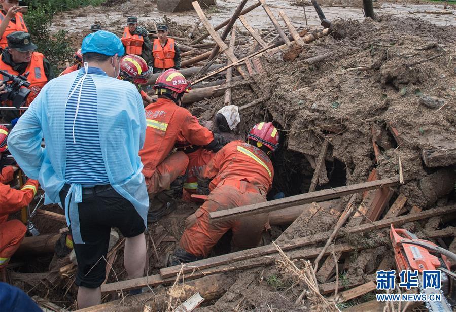 (防汛抗洪·圖文互動)(5)湖北黃梅山體滑坡事故救援紀實