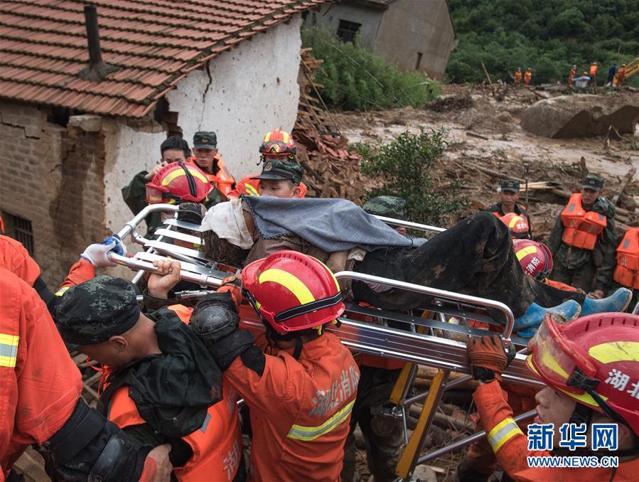 (防汛抗洪·圖文互動)(7)湖北黃梅山體滑坡事故救援紀實