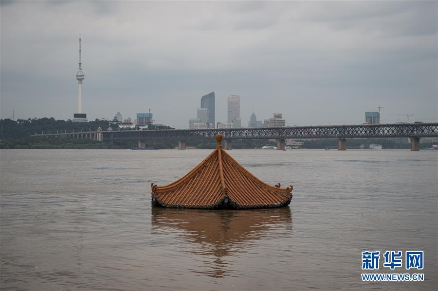 (防汛抗洪)(1)长江汉口站水位持续上涨