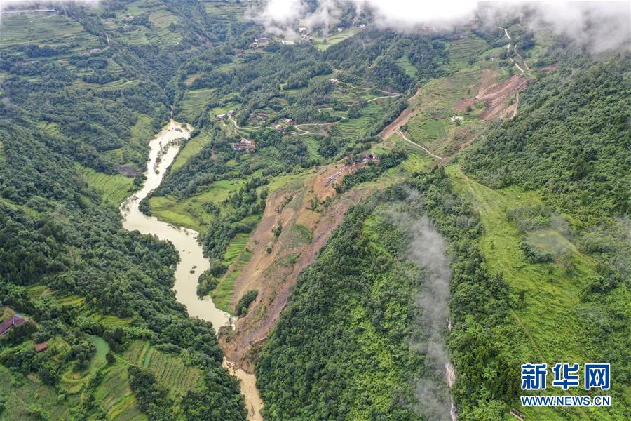 (防汛抗洪)(2)重慶武隆山體滑坡形成堰塞湖