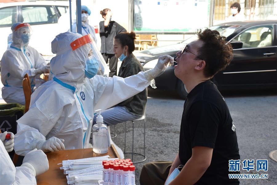 (圖文互動)(2)烏魯木齊市4日開始開展第三輪核酸檢測篩查