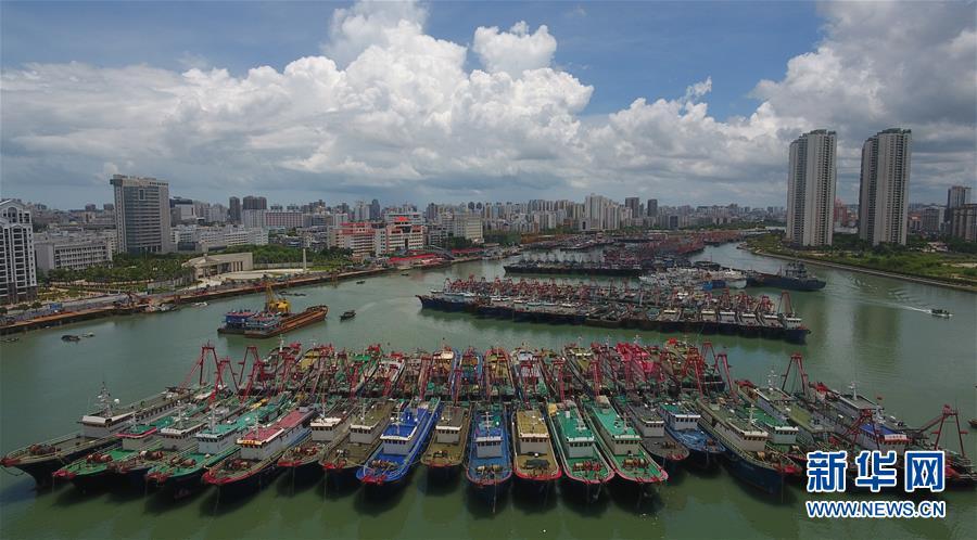 (社会)(1)海口:船舶进港避台风