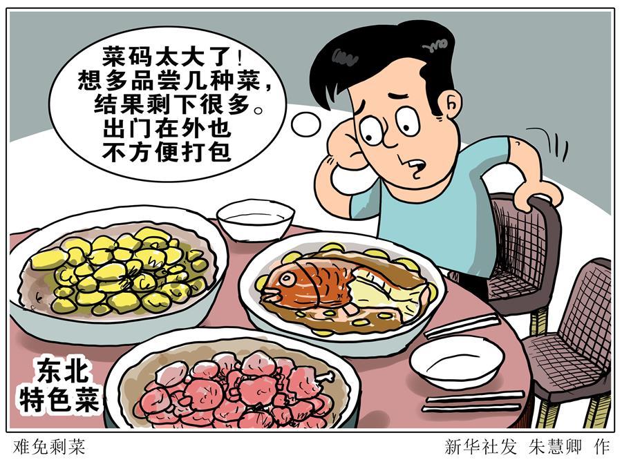 (图表·漫画)[新华视点·浪费可耻 节约为荣]难免剩菜