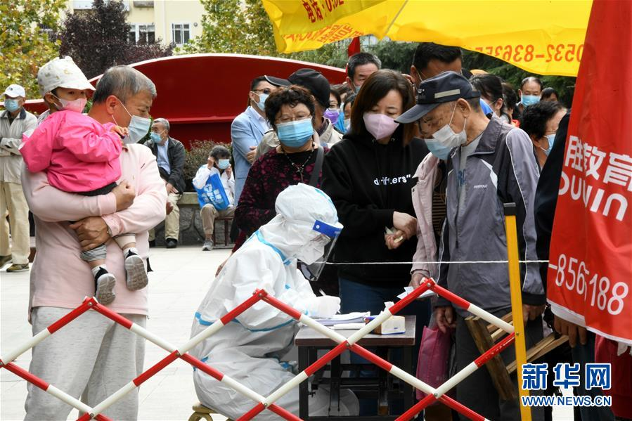 (社會)(2)青島核酸檢測採樣超300萬份 未發現新的陽性樣本