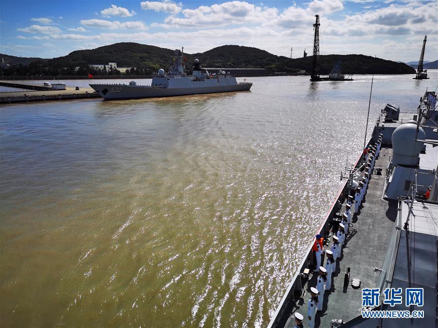 (图文互动)(2)中国海军第35批护航编队凯旋